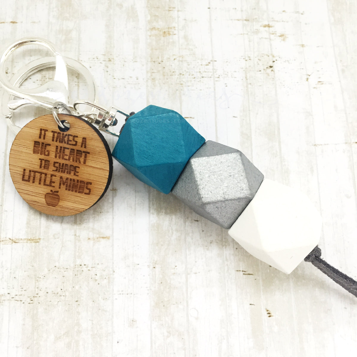 Geo Keyring - Glacier - Big hearts (Apple) Version