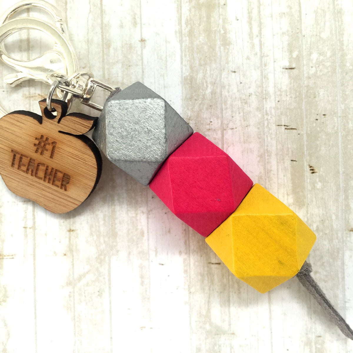 Geo Keyring - Pineapple Cheesecake - #1 Teacher version