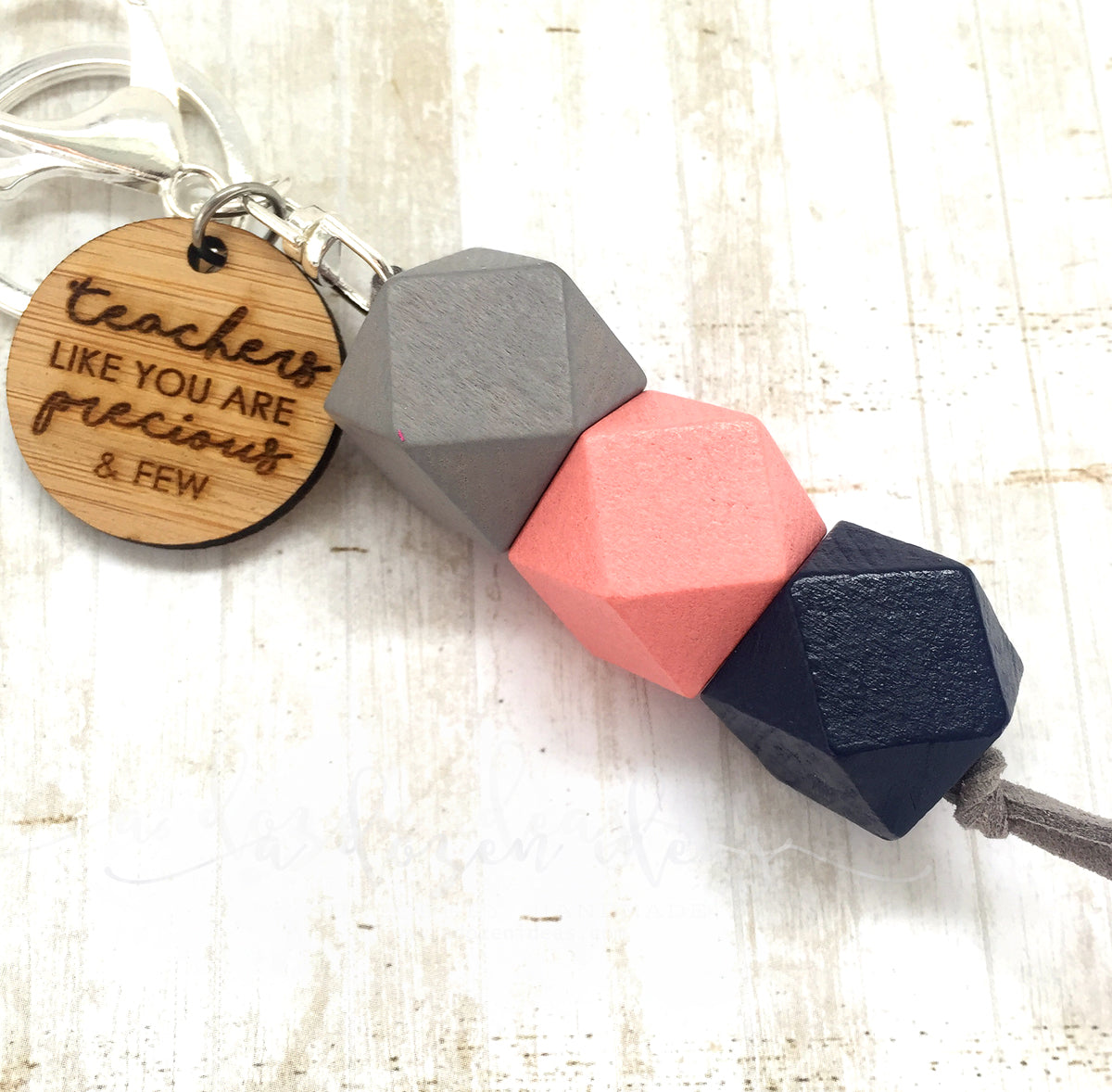Geo Keyring - Berry & Blue - Teachers like you