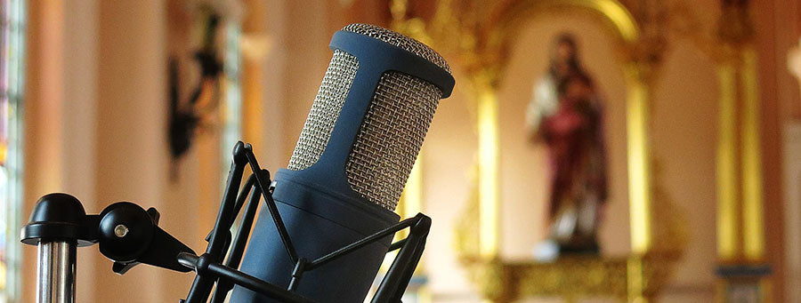 Mic in church for streaming 5G broadcast