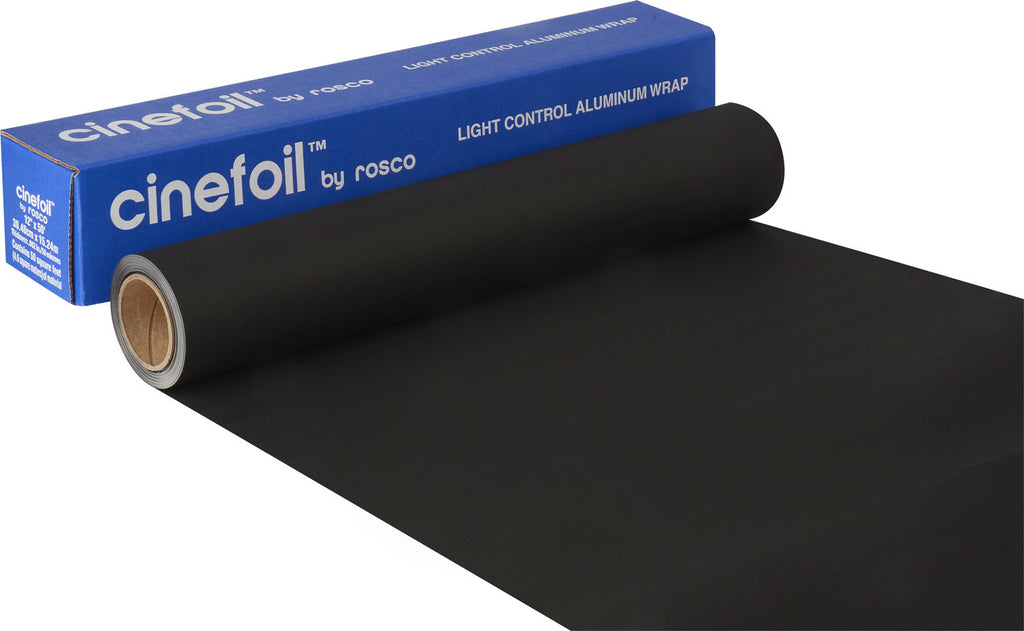 Rosco 12-Inch Roll Aluminum Black Wrap Cinefoil Lighting Foil