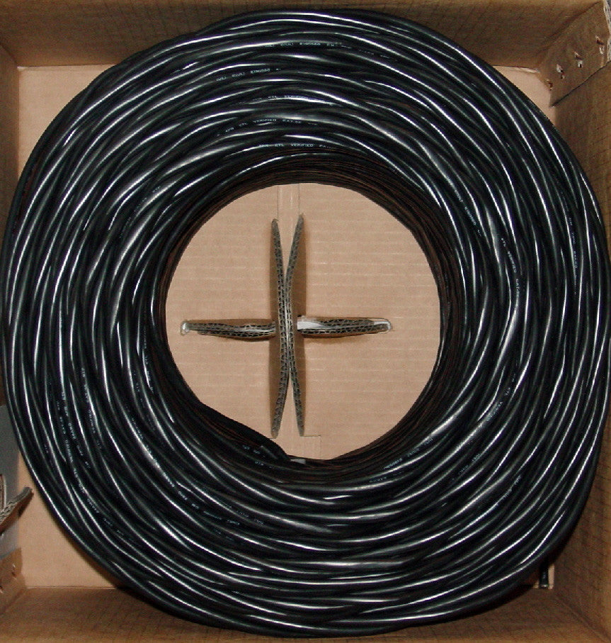CAT5e UTP Bulk Cable Solid 350MHz 24 AWG 1000FT Black