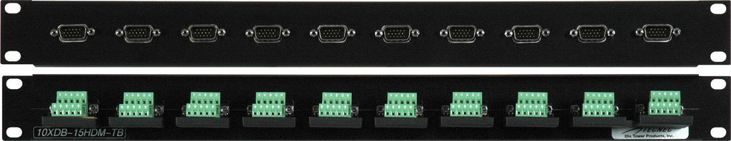 10 Point VGA Female - Terminal Block Patch Panel