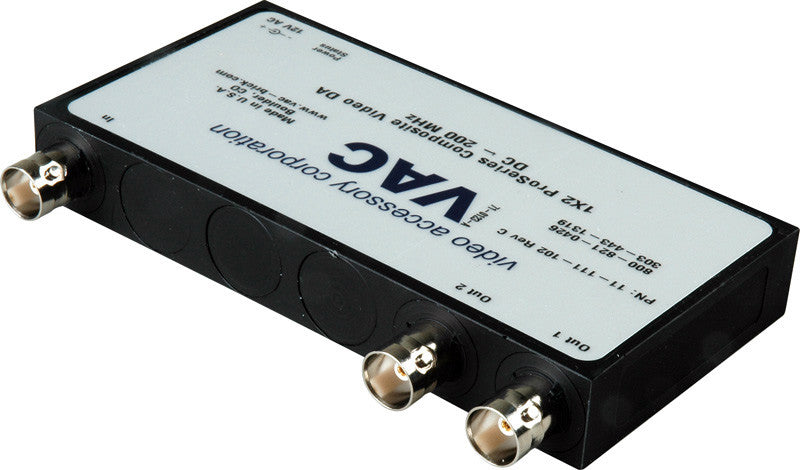 VAC 11-111-102 Composite Video 1x2 Distribution Amplifier