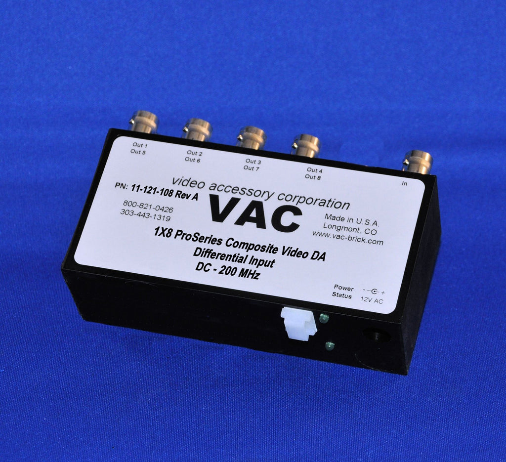 VAC 1x8 Composite Video DA with BNCs