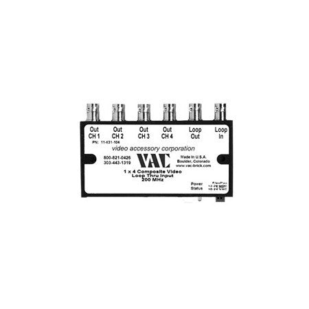 VAC 11-531-108 1x8 Composite Video Distribution Amplifier with BNCs