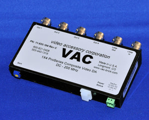 VAC 11-533-104 1x4 Composite Video Distribution Amp with BNCs & Loopthru