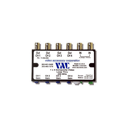 VAC 11-534-104 1x4 Composite Video Distribution Amplifier with BNCs