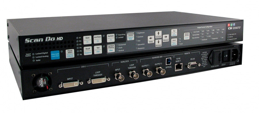 A high quality Image of CSI Scan Do HD Digital DVI or Analog RGB 1920x1080 to 3G/HD/SD-SDI Scan Converter