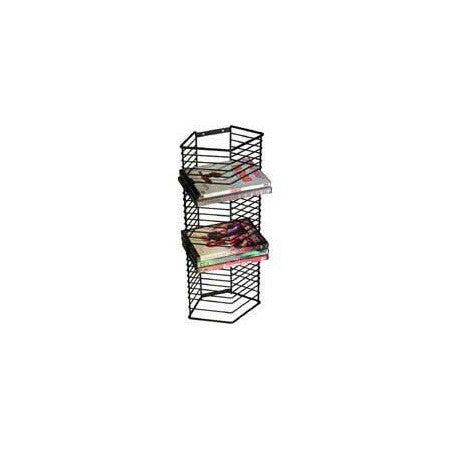 Onyx Matte Black Wire Wall or Stand Alone DVD Rack (65 DVDs)