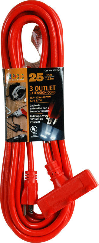 A high quality Image of 3 Outlet 12/3 Power Extenion Cord - 50FT