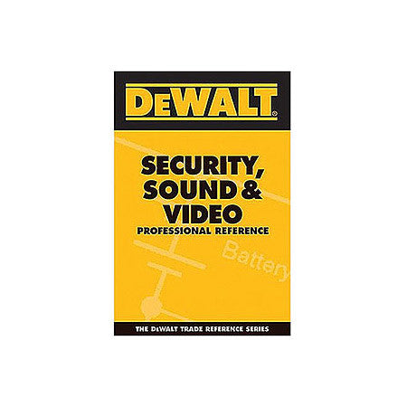 A high quality Image of Dewalt Security Sound And Video Pro Reference Pocket Guide