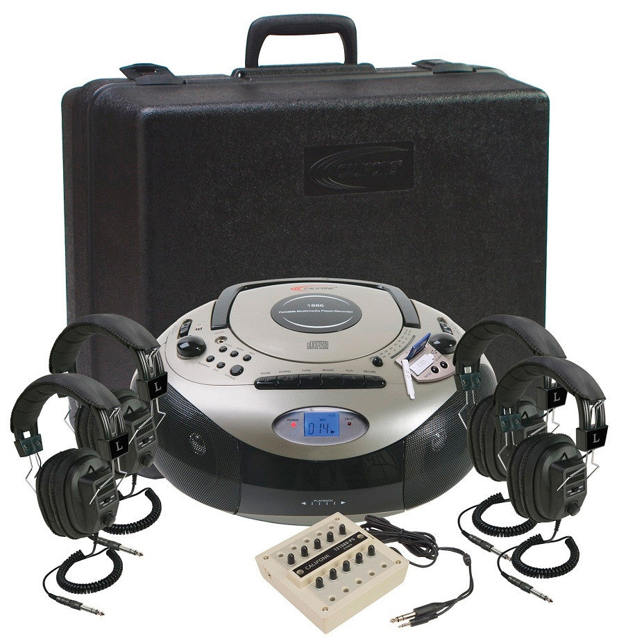 A high quality Image of Califone 1886PLC 4-Person Spirit SD Stereo Listening Center