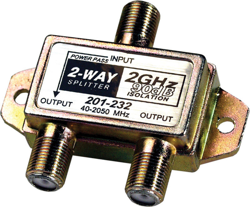 2-Way 2.4Ghz 90dB Satellite Splitter DC Power Passing to One Port