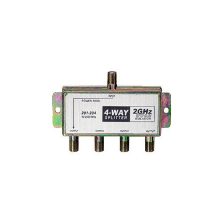 4-Way 2.4Ghz 90dB Satellite Splitter DC Power Passing to One Port