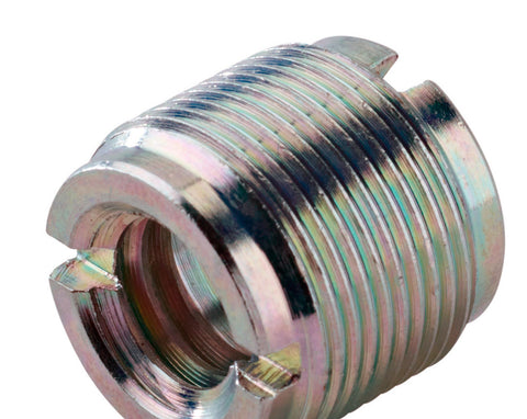 A high quality Image of 1/2 and 3/8 Female to 5/8-27 - European to US Mic Thread Adapter