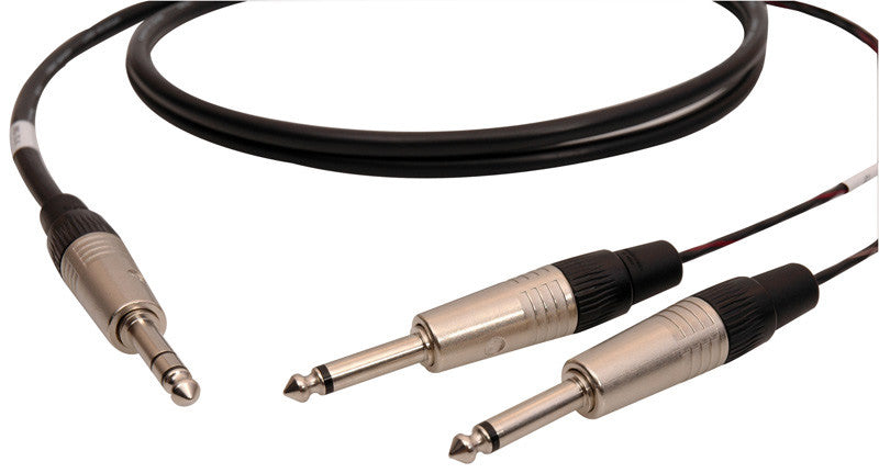 Audiophile 1/4-TS Insert Cables 25FT Pair
