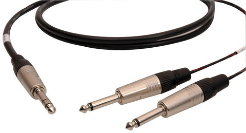 Audiophile 1/4-TS Insert Cables 15FT Pair