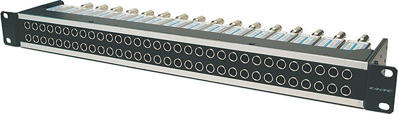 Canare 32MDS-ST-2U 32-Point Mid-Size HDTV Straight Patchbay 2x32 (2RU)