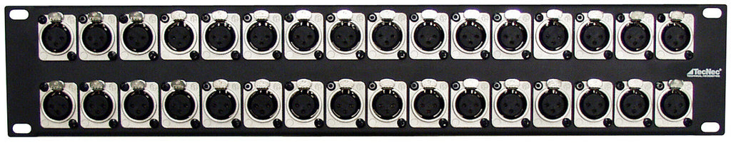 XLR Male 2RU Panel 32 Points- NC3MD-SCREW Connectors