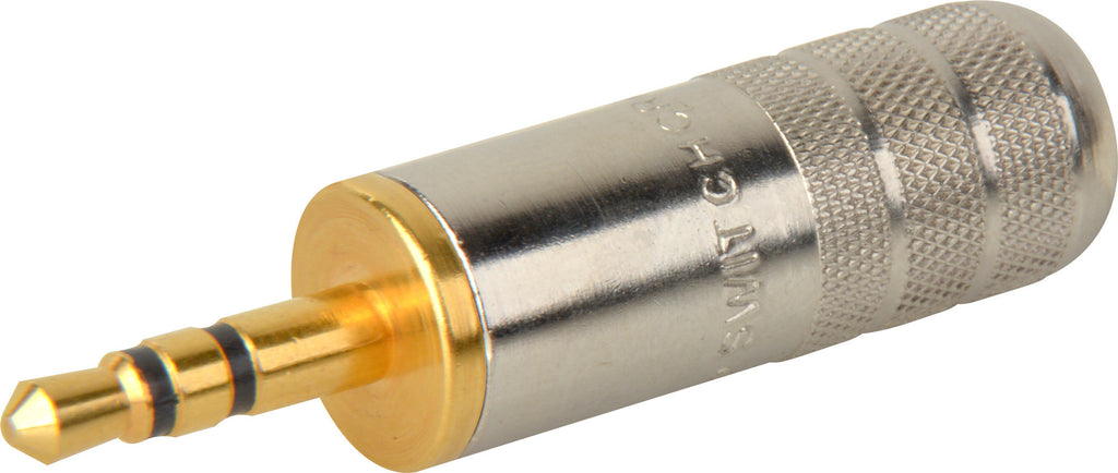 Switchcraft 35HDNAUS 3.5mm Stereo Plug with Nickel Handle & Gold Finger
