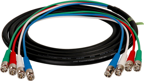 A high quality Image of 4-Channel BNC Snake Cable 12FT