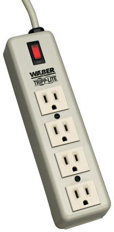 Waber-by-Tripp Lite 4SPDX 4 Outlet Premium Office-Grade Power Strip