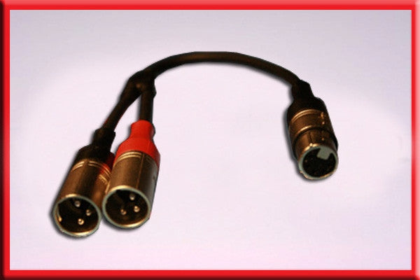 5Pin ProAudio 523b 5-Pin XLR Female to Dual 3-Pin Male Y-XLR Cable 1.5FT