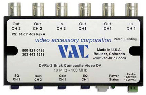 VAC 61-111-504 Four-channel DVRx Analog Video Optimization System