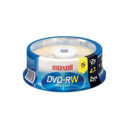 Maxell 635117 4x DVD-RW Media -15 Pack Spindle