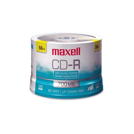 Maxell 48x CD-R Media 50-Pack