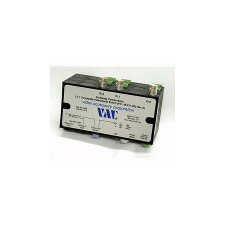 VAC 69-511-062 2x1 Combo Composite Video & Balanced Stereo Audio Switch