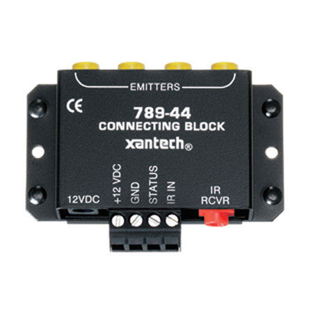 Xantech 78944PSRP 4-Source Connecting Block / 1x4 IR Emitter with Power Supply