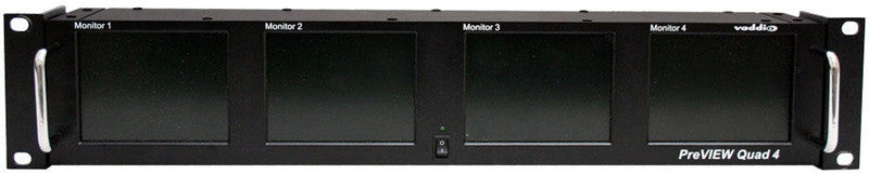 Vaddio 999-5500-004 PreVIEW Quad 4 LCD Rack Mount Monitors
