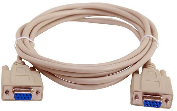 DB-9 Serial Female to Female Molded Cable 10FT Beige