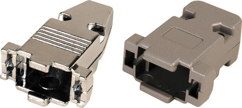A high quality Image of 15-Pin High Density and 9-Pin D-Sub Connector Hood - Metal