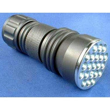 High Intensity 21 LED 3 AAA Machined Aluminum Flashlight (3 Colors)