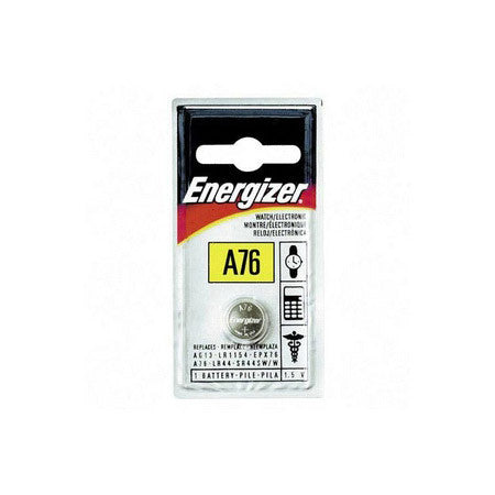 Energizer A76 1.5V Car Alarm Battery LR44 / AG13 Equivalent Button Cell Battery
