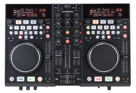 American Audio VersaDeck 2-Channel / 2-MidiLog Dual Table USB Player Midi Controller with Virtual DJ LE Software