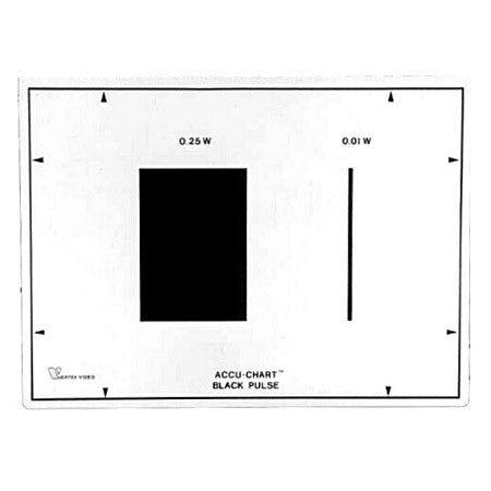 Vertex Accu-Chart Black Pulse Test Chart
