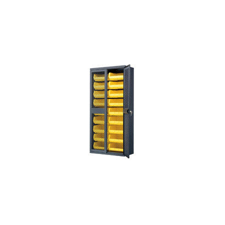 A high quality Image of Akro-Mils AC3618SV250 Secure-View Bin Cabinet 18 14.75x16.5x7 In. Bins