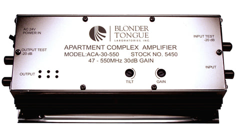 Blonder Tongue ACA-30-86R Apartment Complex Amplifier 30 dB 47-860 MHz Passive Return Dual Hybrid