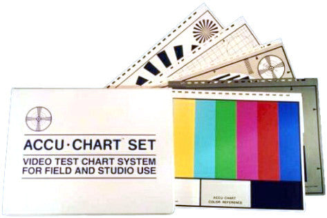 A high quality Image of Vertex Accu-Chart AC-3/VC Set of 5 Test Charts 12.5x10 With Zippered Vinyl Case
