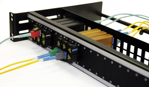 Advanced Fiber Products NTOSPNL1.5 Open Fiber Patch Panel for up to 24 NTOS Jacks - 1.5RU