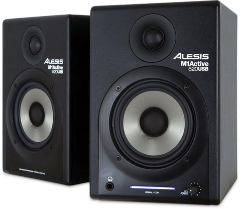 Alesis M1Active 520 USB Studio Monitors with USB Audio I/O - Pair