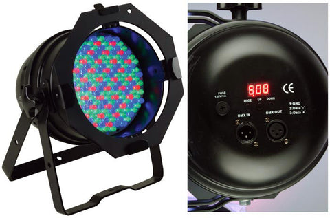 A high quality Image of American DJ 64B LED PRO DMX RGB Color Mixing Par Can (Black)