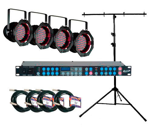 A high quality Image of American DJ P64 LED PLUS SYSTEM DMX Lighting Kit