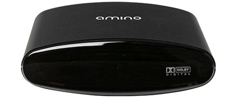A high quality Image of Amino A140 MPEG-2/4 High Definition IP-set-top Box in a Compact Case