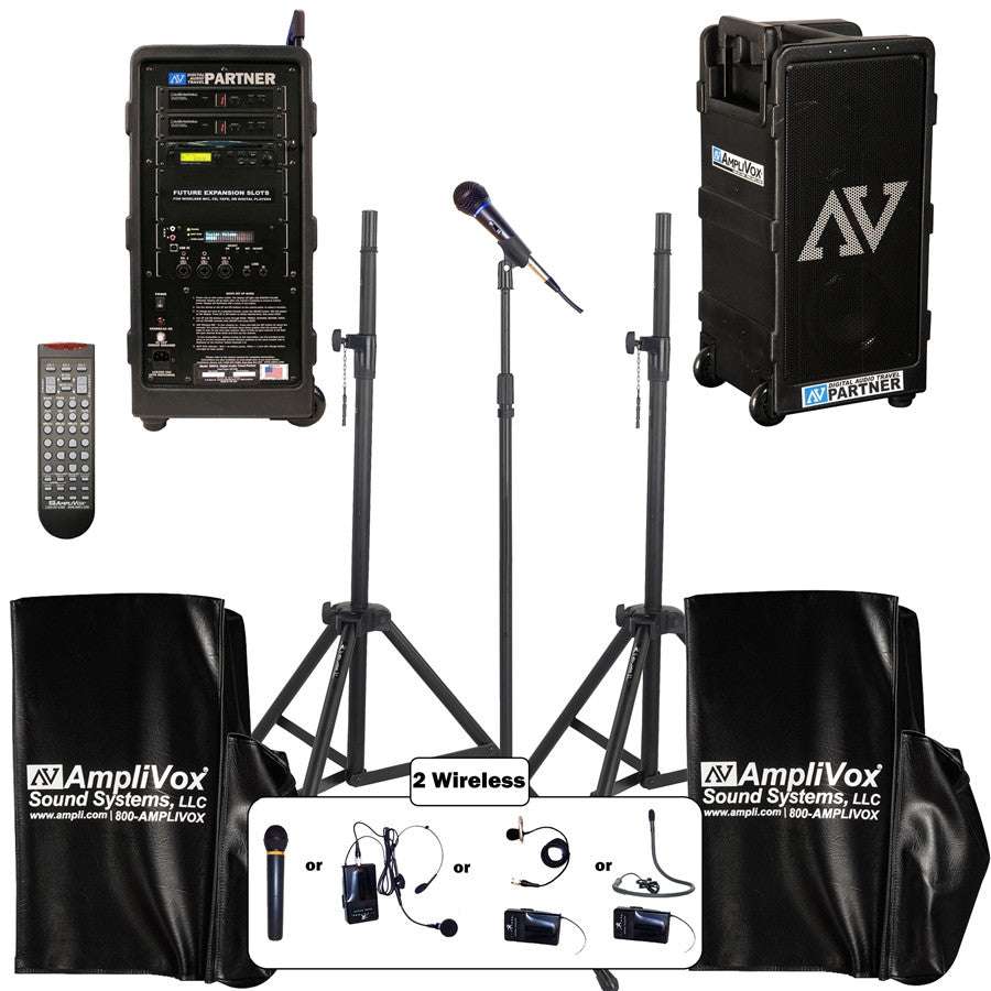 AmpliVox B9154 Digital Wireless Travel Audio Pro System Package - Handheld