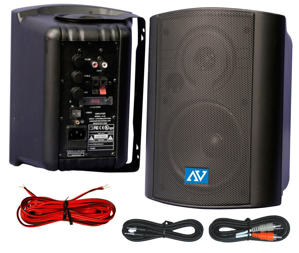 A high quality Image of AmpliVox S1232 Powered Wallmount Stereo Speakers 30 Watt